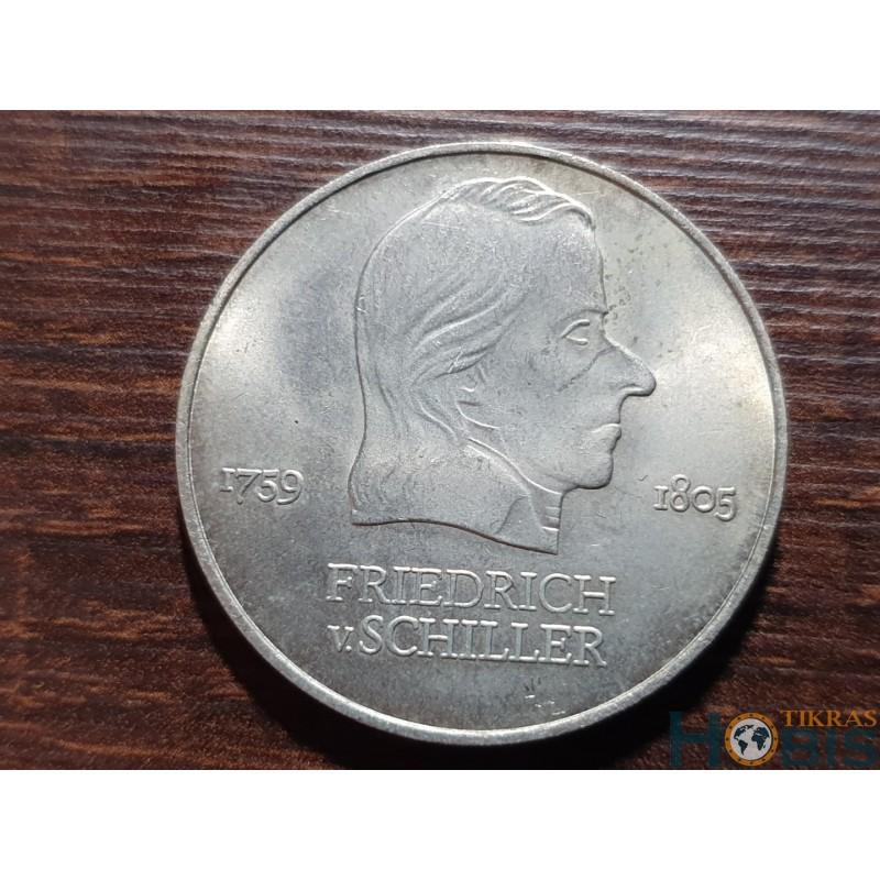 Vokietija - VDR 20 markių, 1972 Friedrich von Schiller