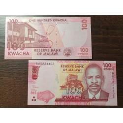 Malawi 100 kwachas, 2019 P-65d