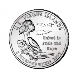 JAV 25 centai, 2009 U.S. Virgin Islands Quarter UNC