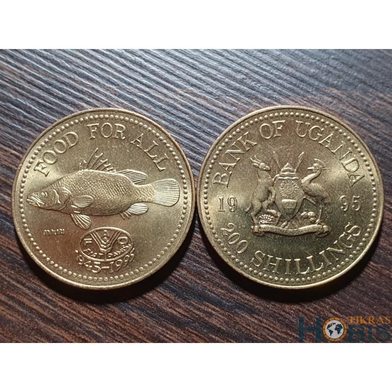Uganda 200 šilingai, 1995 FAO 50 metų