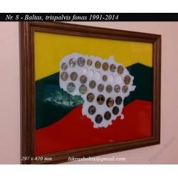 Rėmelis Lietuvos monetoms Nr. 9 - 1991-2014