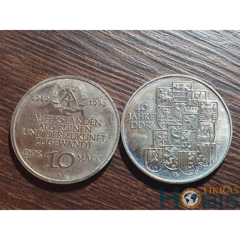 Vokietija - VDR 10 markių, 1989 40th of GDR