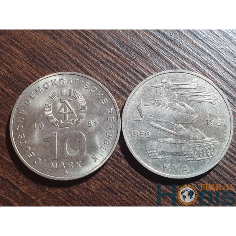 Vokietija - VDR 10 markių, 1981 25th Army