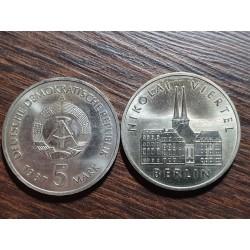 Vokietija - VDR 5 markės, 1987 750th Berlin, Nikolaiviertel