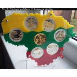 Frame for Lithuanian medals...