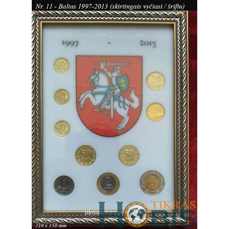 Rėmelis Lietuvos monetoms Nr. 11 - 1997-2013