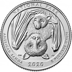 JAV 25 centai, 2020 American Samoa