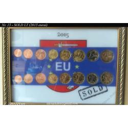 Rėmelis Lietuvos monetoms Nr. 15 - EURO