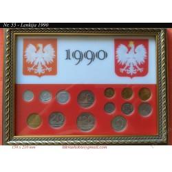 Frame for Polish coins No....