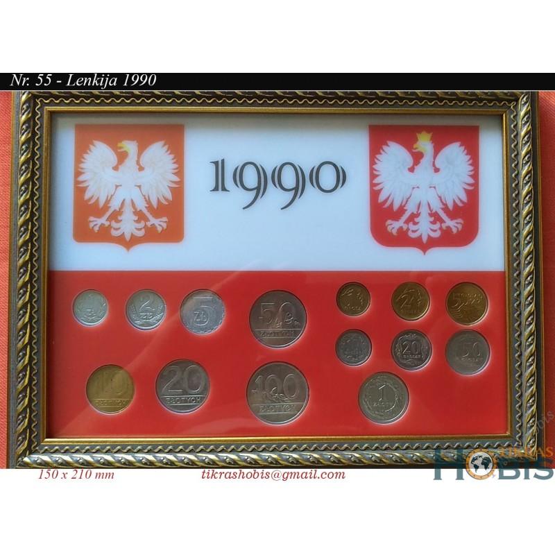Rėmelis Lenkijos monetoms Nr. 55 - 1990