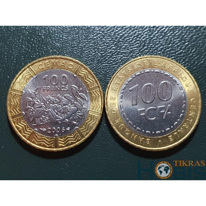 Centrinė Afrika (BEAC) 100 frankų, 2006