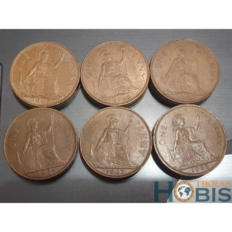 Anglija 1 pensas, 1961-1970