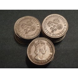Mauricijus 1/4 rupijos, 1960-1978