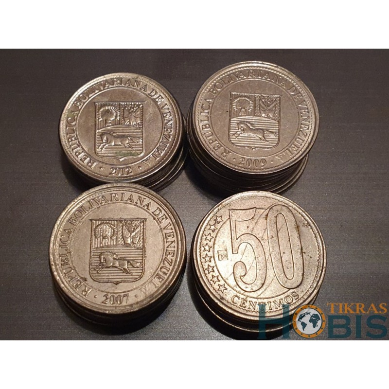 Venesuela 50 sentimų, 2007-2009