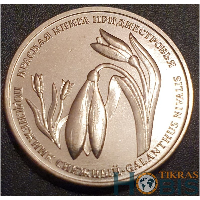Padniestrė 1 rublis, 2020 Galanthus Nivalis
