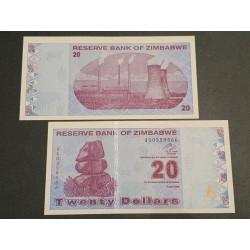 Zimbabvė 20 Dollars, 2009 P-95