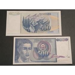 Jugoslavija 500 dinarų, 1990 P-106a