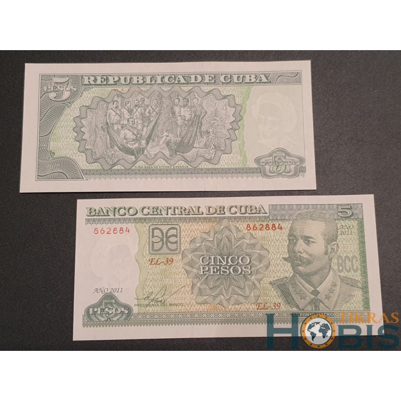 Kuba 5 pesos, 2011 P-116l