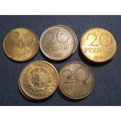Vokietija - VDR 20 pfenigų, 1969-1990