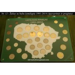 Rėmelis Lietuvos monetoms Nr. 12 - 1991-2014