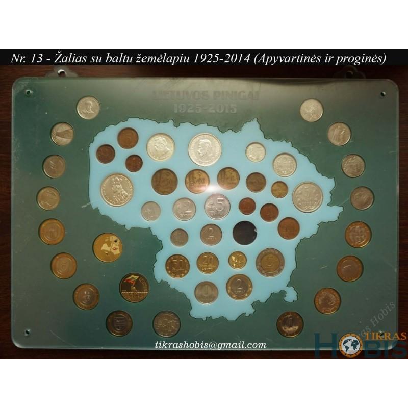 Rėmelis Lietuvos monetoms Nr. 13 - 1925-2014