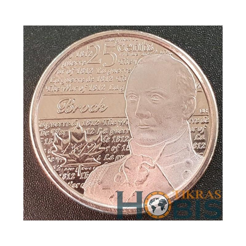 Kanada 25 centai, 2012 Sir Isaac Brock