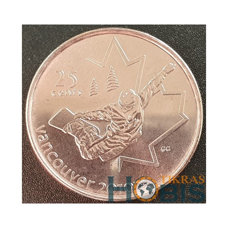 Kanada 25 centai, 2008 Snowboarding