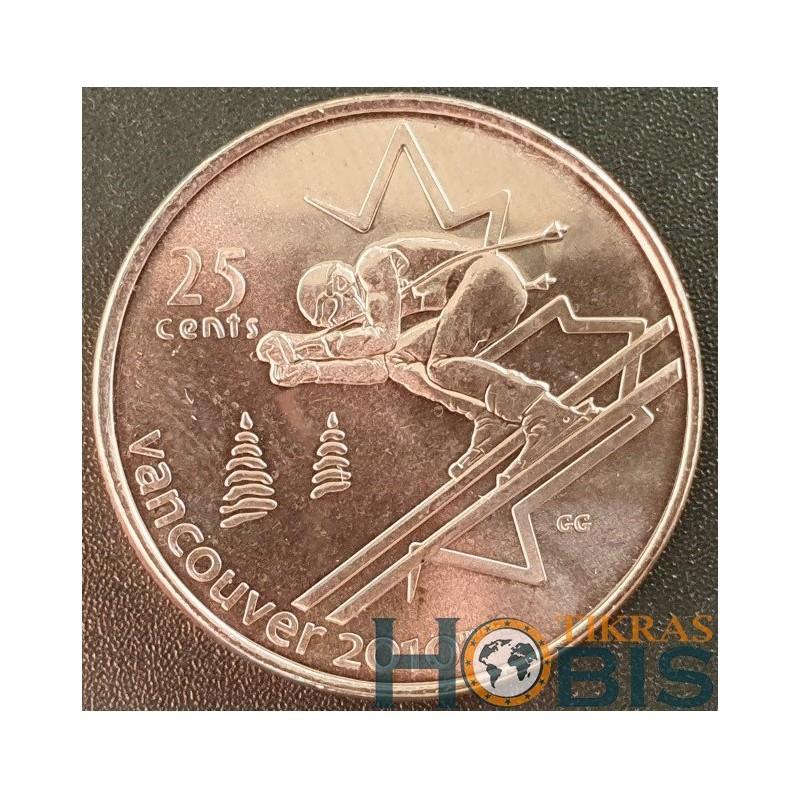 Kanada 25 centai, 2007 Alpine Skiing