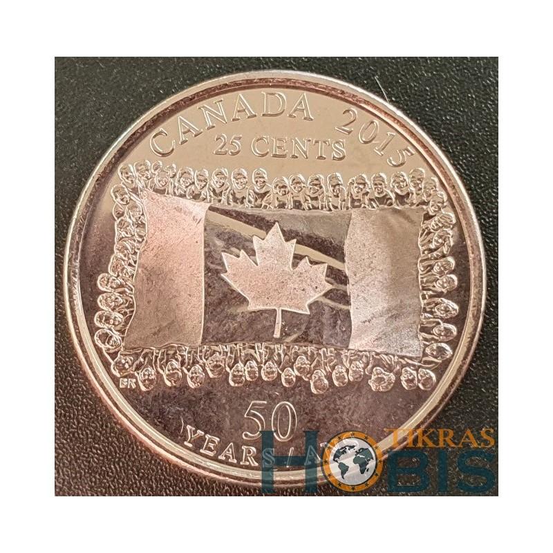 Kanada 25 centai, 2015 Canadian Flag