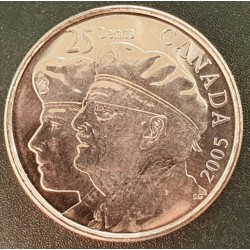Canada 25 cents, 2005 Veteran