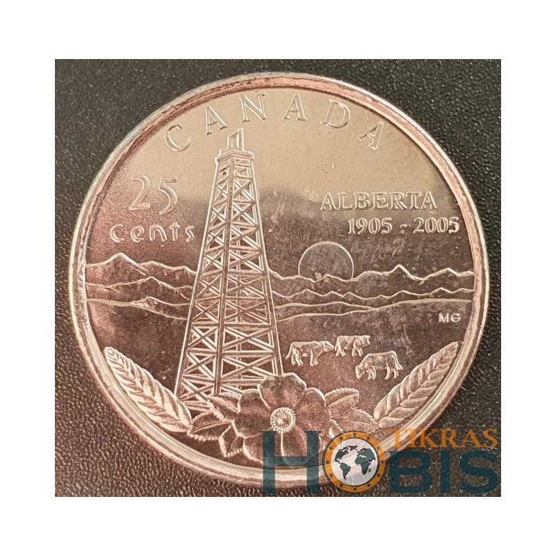 Kanada 25 centai, 2005 Alberta