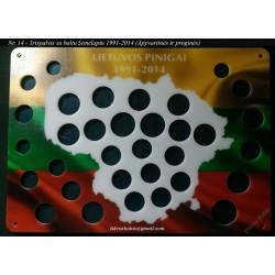 Rėmelis Lietuvos monetoms Nr. 14 - 1991-2014
