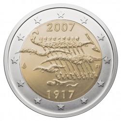 Suomija 2 eurai, 2007 90th Independence