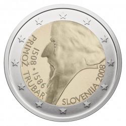 Slovėnija 2 eurai, 2008 Primožo Trubaro 500 KM80