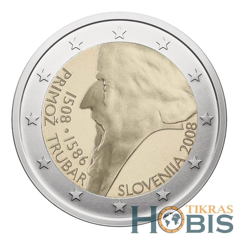 Slovėnija 2 eurai, 2008 500th Primoz Trubar