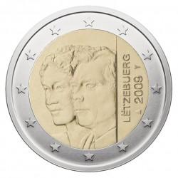 Liuksemburgas 2 eurai, 2009 Throne