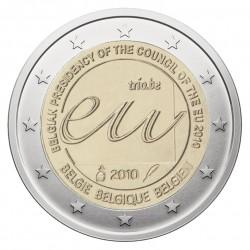 Belgija 2 eurai, 2010 Council European Union