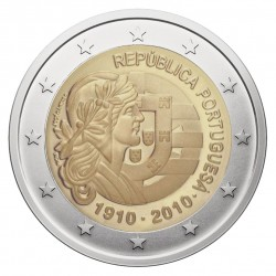 Portugalija 2 eurai, 2010 Respublikos 100 metų