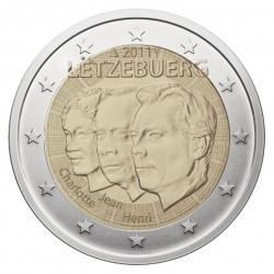 Liuksemburgas 2 eurai, 2011 50th Jean, Grand Duke