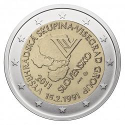 Slovakija 2 eurai, 2011 Visegrad Group