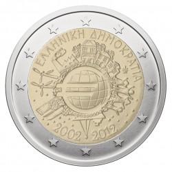 Graikija 2 eurai, 2012 Eurų banknotų ir monetų 10-metis