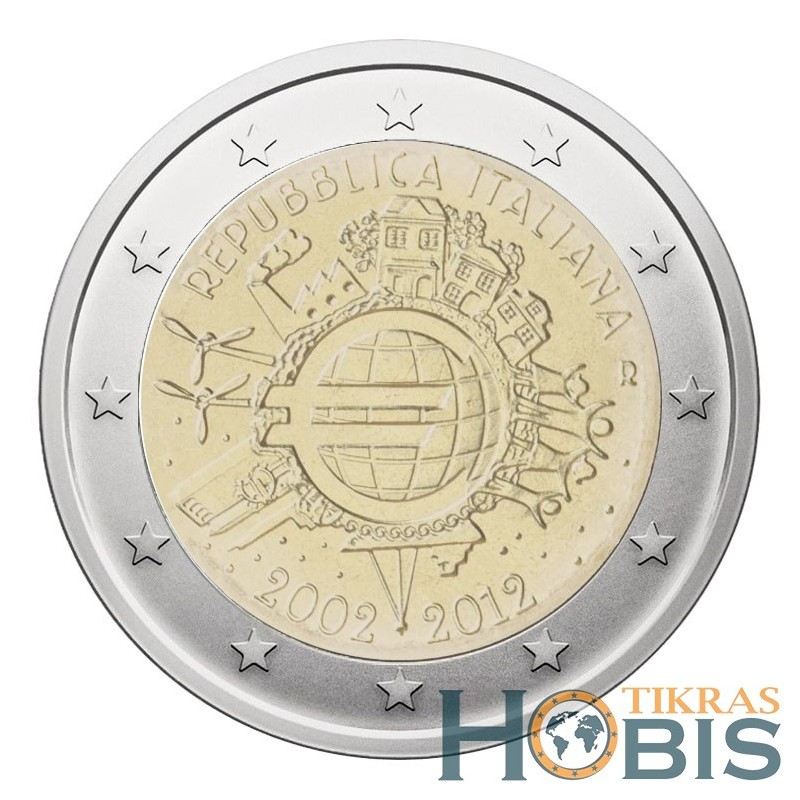 Italija 2 eurai, 2012 eurų 10-metis