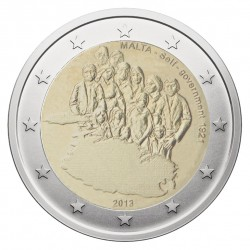 Malta 2 eurai, 2013 Maltese Self-government 1921