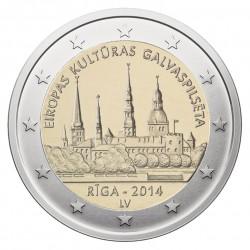 Latvija 2 eurai, 2014 Ryga