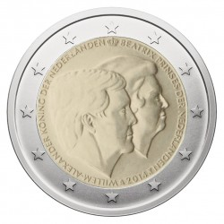 Nyderlandai 2 eurai, 2014 Willem-Alexander Beatrix
