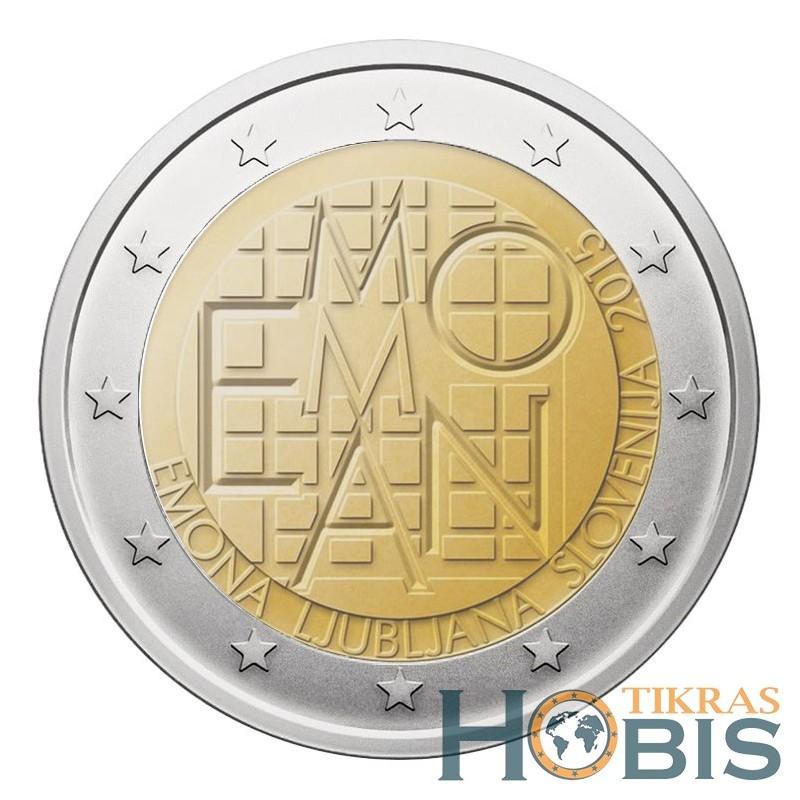 Slovėnija 2 eurai, 2015 2000th Castrum Emona