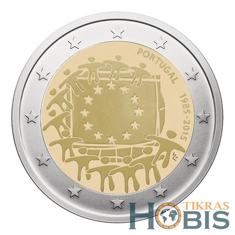 Portugalija 2 eurai, 2015 Europos Sąjungos vėliavos 30-metis