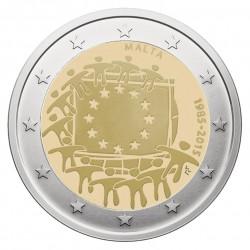 Malta 2 eurai, 2015 Europos Sąjungos vėliavos 30-metis
