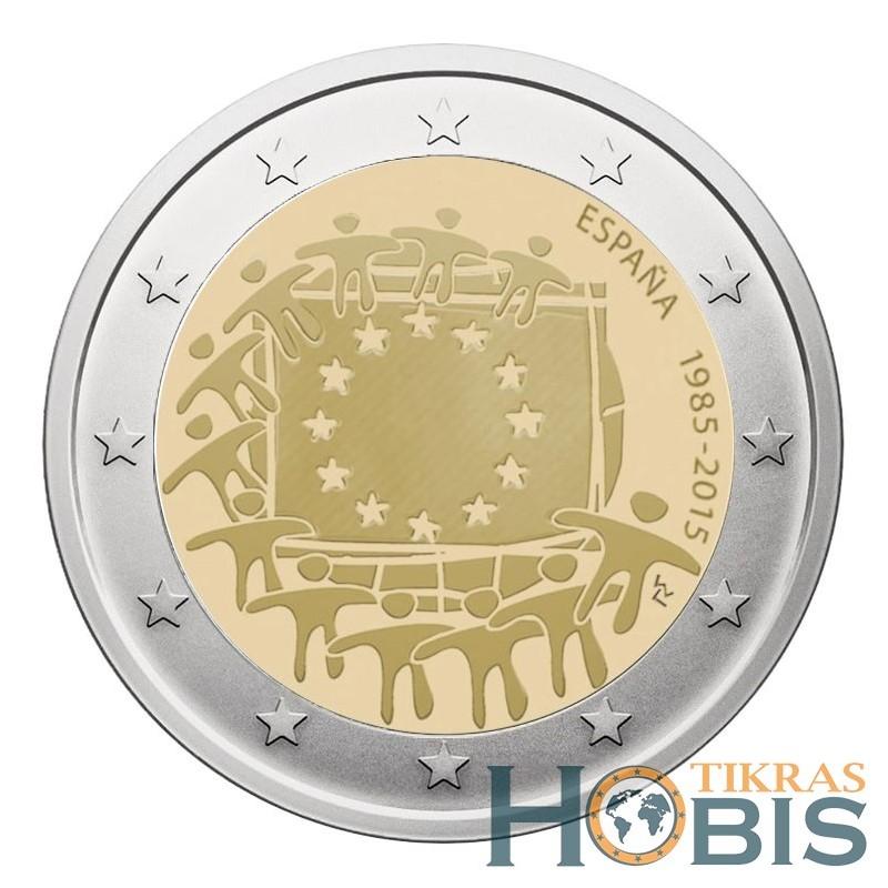 Ispanija 2 eurai, 2015 EU vėliavos 30-metis