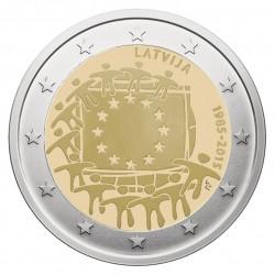 Latvija 2 eurai, 2015 Europos Sąjungos vėliavos 30-metis